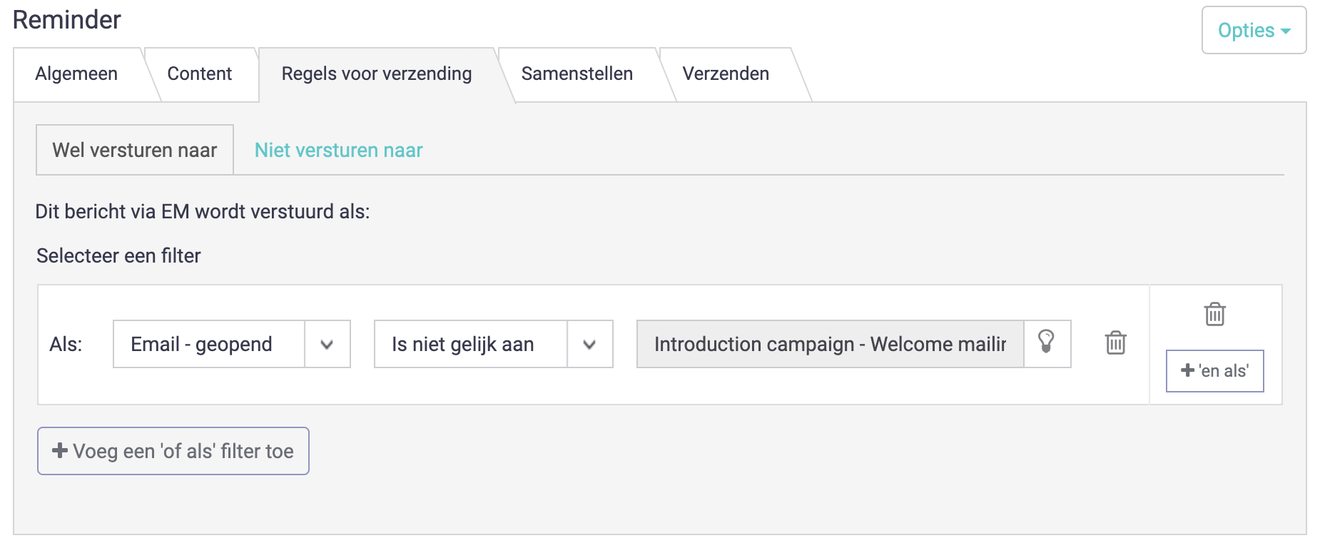 e-mail filteren non-openers