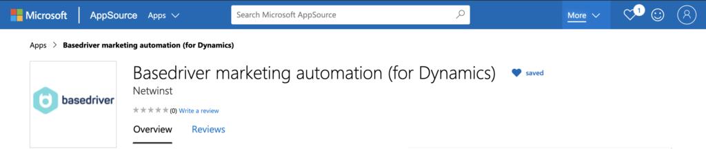 Microsoft Dynamics Marketing Automation