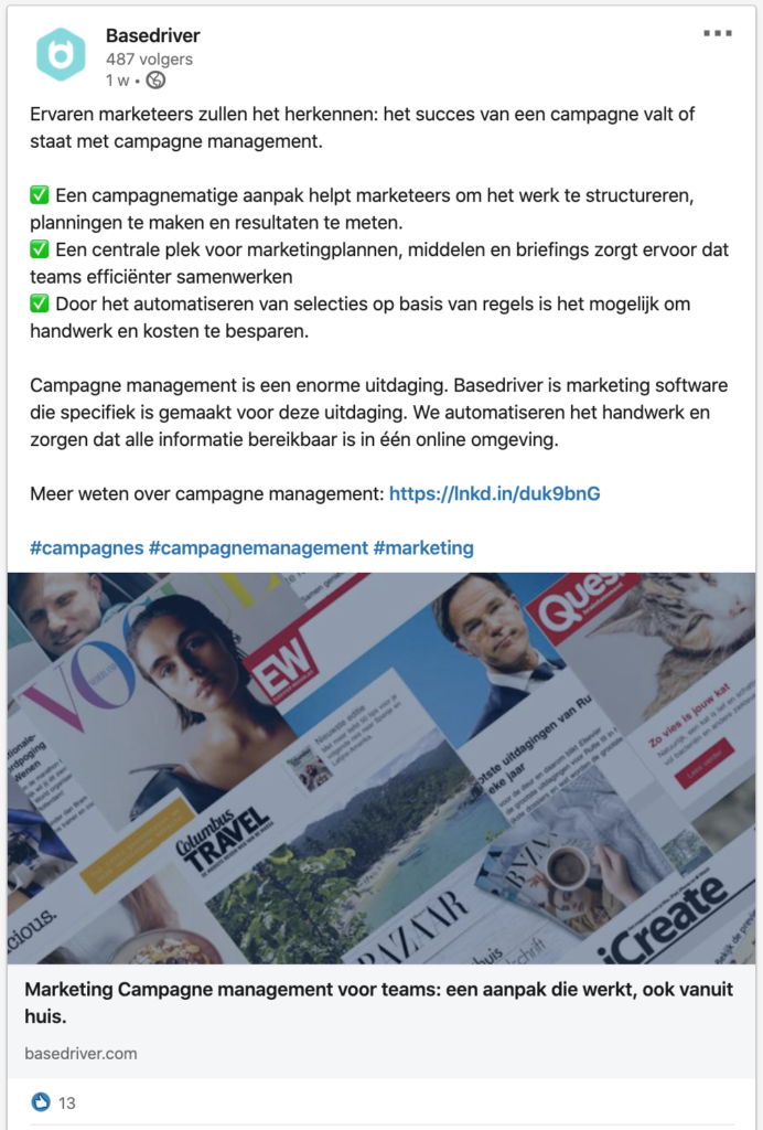 acquisitie via interessante content op LinkedIn