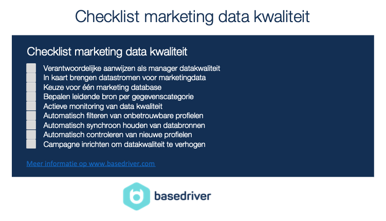Datakwaliteit marketing data checklist