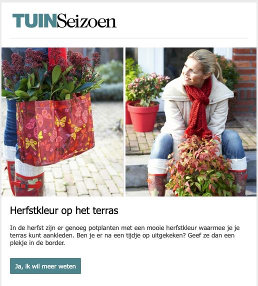 Nieuwsbrief voorbeeld Tuinseizoen