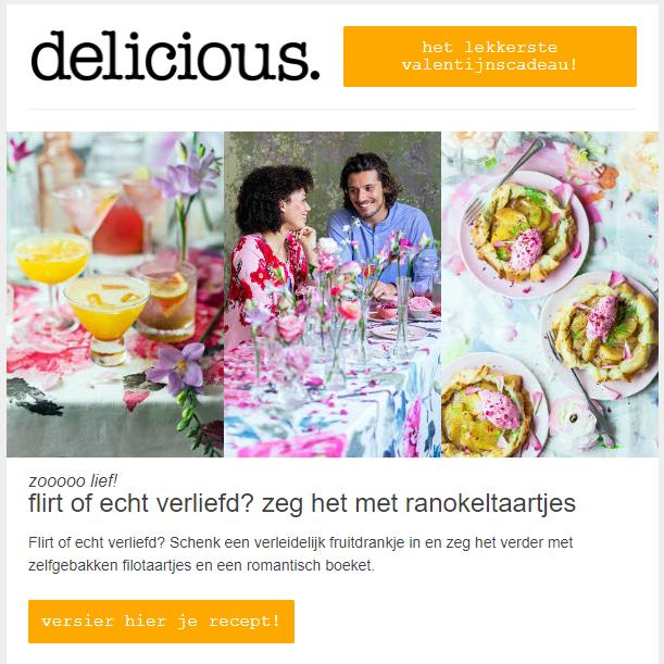 Valentijn mailing voorbeeld Delicious