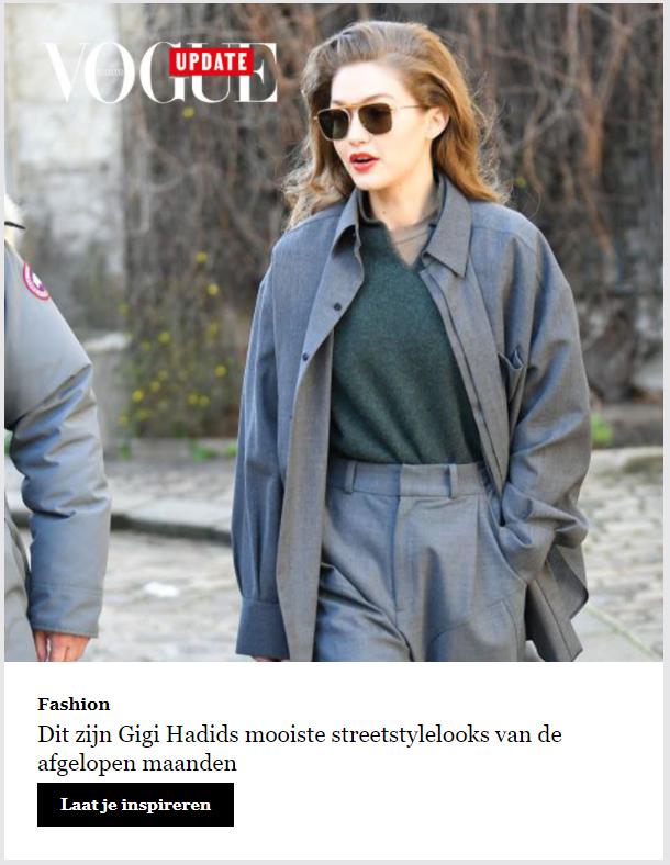 Retentie campagne voorbeeld Vogue